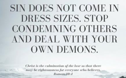 Sin in sizes